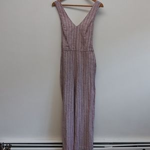 NWT 1 State Red and White Striped Jumpsuit